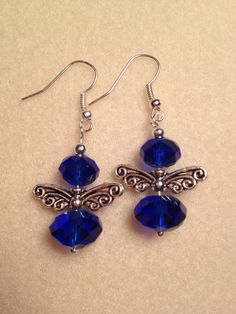 SILVER ANGEL EARRINGS by AleneDesigns on Etsy, $7.00