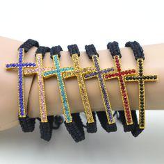 Fashion Pipe Cross Rhinestone Bracelets Bangles