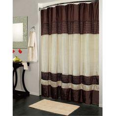 Brown & Ivory Ibiza Shower Curtain #showercurtains #curtains #bathroom