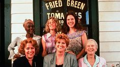 """Kathy Bates, Fannie Flagg (who wrote the book), Jessica Tandy, Cicely Tyson, Mary Stuart Masterson, Mary-Louise Parker. """"Fried Green Tomatoes"""" 1991."""