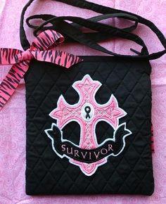 pink survivor tote