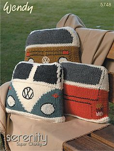 Inspiration: Camper Van Cushion. Pattern available in print.