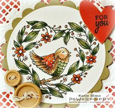 Inky Peach Designs: Power Poppy's February Stamp Release-Day 2