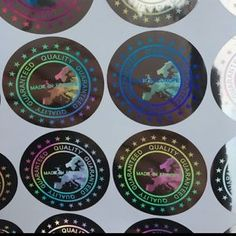 """Details about  Hologram Sticker Labels Warranty Void If Removed Tamper Proof Stickers """"Europe"""""""