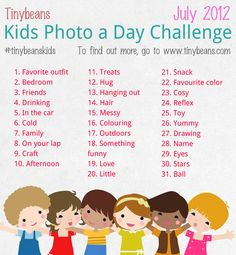 Tinybeans Kids Baby Journal Photo A Day Challenge in July Creative Portrait Photography, School Photography, Photography Lessons, Creative Portraits, Photography Projects, Photography Photos, Digital Photography, Children Photography, Inspiring Photography