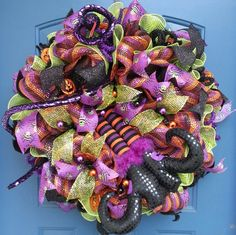 Halloween deco mesh wreath Halloween wreath by WonderfulWreathsKim, $79.00