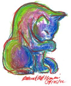 Daily Sketch Reprise: Summer-colored Kitty