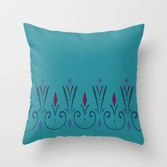 Elsa coronation dress pattern (skirt) Throw Pillow