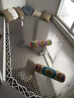 rope hammock space for reading and relaxing - Raumteiler Dream Rooms, Dream Bedroom, Kids Bedroom, Bedroom Decor, Bedroom Ideas, Childrens Bedroom, Bedroom Ceiling, Home Interior Design, Interior And Exterior