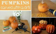 Carve Up Your Pumpkins With A Drill