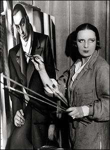 "Tamara De Lempicka - May 1898 –March 1980, was a Polish Art Deco painter and ""the first woman artist to be a glamour star"" Her paintings are fabulous!"