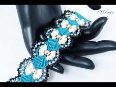 Daisy micro macrame bracelet - YouTube