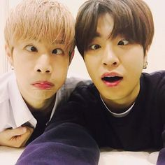 Mark and Youngjae     :3 they still look so cute when doing derp faces