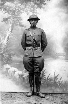 Harry Truman as a US Army officer in France during WW1 1918.