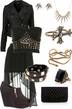 "Winning Event outfit for ""New punk"" styled by Beckie #fashion #style"