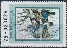 Montana Waterfowl Revenue Stamp, 1993.