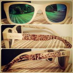 Woodburned bamboo sunglasses Polarized lens Wayfarer frame style $100 custom pair - https://www.etsy.com/listing/210721814/custom-woodburned-bamboo-sunglasses