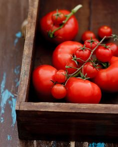 Tomatoes. One of the things winter just makes me crave. Real tomatoes.