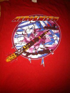 Old RARE Vintage Aerosmith Concert Tour Tshirt Size XL 1986 Used | eBay