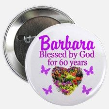 """PRAYING 60 YR OLD 2.25"""" Button Inspire your special 60 year old with an uplifting Christian 60th birthday Tees and Gifts. Take 20% Off your order with code: CLOVER20 http://www.cafepress.com/heavenlyblessings/12705776 #60thbirthday #60yearsold #Happy60thbirthday #60thbirthdaygift #Christian60th #personalized60th #happy60th"""