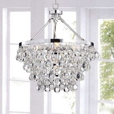 Indoor 5-light Luxury Crystal Chandelier, Clear (Chrome)