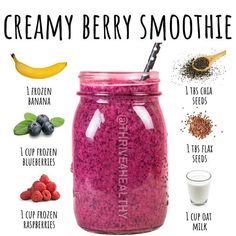 Fruit Smoothie Recipes, Protein Shake Recipes, Smoothie Drinks, Smoothie Diet, Healthy Smoothies, Healthy Drinks, Smoothies For Diabetics, Coconut Smoothie, Breakfast Smoothies For Weight Loss