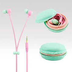 Sluchátka Macarone zelená
