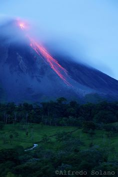 Arenal de madrugada in Costa Rica--this was the sight I had outside my hotel room  in LaFortune