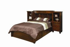 Amish Bedroom Furniture Covington Pier Wall with Platform 14575