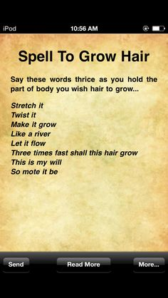 Hair Growth Spell - A little positive thinking can't hurt!