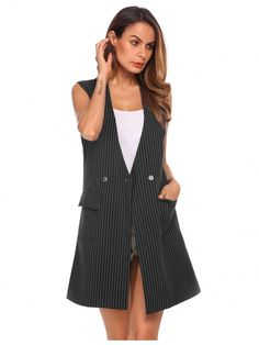 ... Women Sleeveless Long Waist coat Vest Jacket Ladies Summer