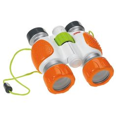 I'm liking this big and brightly colored (hopefully less losable…is that a word??) Fisher Price Kid Tough Binoculars.  ~ Gift Ideas for Boys