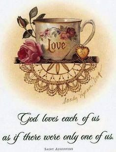 God's Love is so amazing! We are blessed each new day! May you receive the blessings He has for you sisters. In His Love. Tea Quotes, Bible Verses Quotes, Scriptures, Coffee Quotes, Christian Faith, Christian Quotes, Christian Living, Christian Inspiration, Daily Inspiration