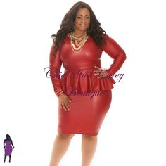 New Plus Size Peplum Style All Liquid Bodycon in Burgundy available at http://chicandcurvy.com/bodycons/product/9207-new-plus-size-peplum-style-all-liquid-bodycon-burgundy-1x-2x-3x  Necklace available at http://chicandcurvy.com/accessories/product/9504-lwr-afks0954gdgod