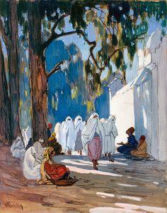 Un vendredi, jour des femmes, au cimetiere arabe, Alger - Pierre Roblin
