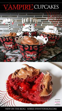 How To Make Halloween Vampire Cupcakes!