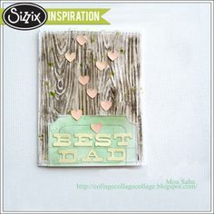 Sizzix Inspiration | Happy Father's Day Card by Mou Saha