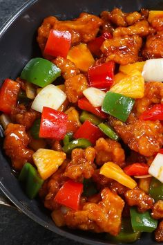 Sweet and Sour Chicken {Crispy and Sticky!} - TipBuzz Crispy outside and tender on the inside, this Sweet and Sour Chicken recipe also features the most luxurious sweet and sour sauce that's so addictive. Homemade Chinese Food, Chinese Chicken Recipes, Easy Chinese Recipes, Easy Chicken Recipes, Asian Recipes, Sweat And Sour Chicken, Recipe For Sweet & Sour Chicken, Orange Chicken Sauce, Sour Recipe