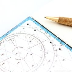 Nautical chart endpage on a blue map book handmade by Ruth Bleakley