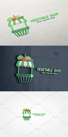 Vegetable Shop, Vegetable Design, Text Color, Vector File, Logo Templates, Vegetables, Easy, Shopping, Vegetable Recipes