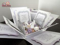 25th Silver Wedding Anniversary Exploding Box Card