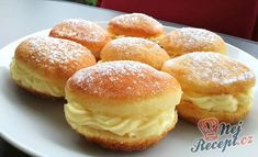 Czech Recipes, Hungarian Recipes, Sweet Pastries, Pavlova, Cookie Recipes, Sweet Tooth, Bakery, Muffin, Food And Drink