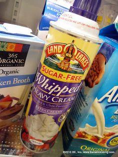 Sugar free and zero carb whipped cream