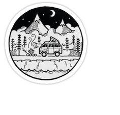 camping van Sticker
