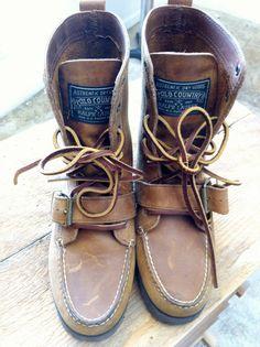 Vintage Polo Ralph Lauren Ranger Boots Brown by ClotheYourBones
