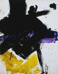 Franz kline (1910-1962) : peintre américain. Expressionnisme abstrait, action painting.