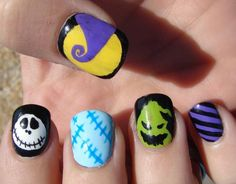 Nightmare Before Christmas Nails!!!