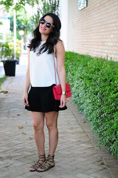 B&W summer look and pink!
