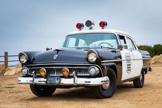 1955 Ford Customline Police Cruiser--   It would get your attention too if it showed up in your driveway.