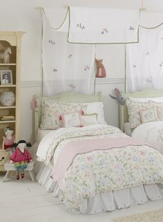 Princess Floral Reversible Twin Duvet by Whistle and Wink